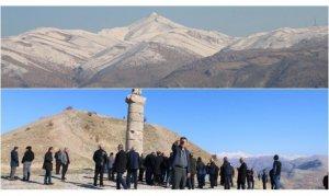Nemrut Dağı'nın zirvesinde kış, eteklerinde bahar havası