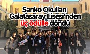 Sanko Okulları  Galatasaray Lisesi'nden üç ödülle döndü