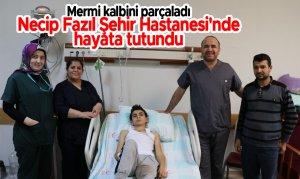 Mermi kalbini parçaladı Necip Fazıl Şehir Hastanesi'nde hayata tutundu