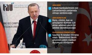 Cumhurbaşkanı Erdoğan: Libya'da bir an önce sükunet sağlanmalı