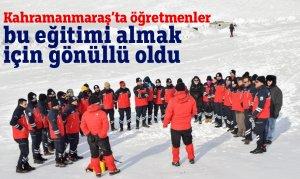 Kahramanmaraş'ta öğretmenler bueğitimi almak için gönüllü oldu