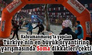 Türkiye Oryantiring Yarışması'nda Soma dikkatleri çekti