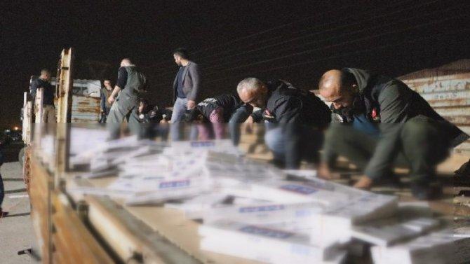 Kahramanmaraş'ta kaçak sigara zulası görenleri şaşırttı