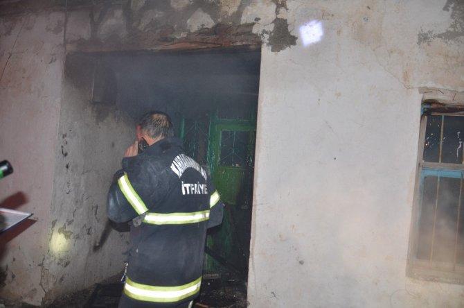 Alevler tüm evi sardı neyse ki korkulan olmadı