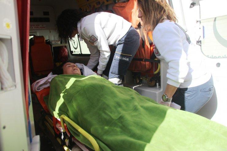 Fatma Girik ambulansla evine götürüldü