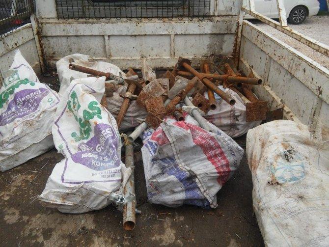 Pazarcık'ta demir hırsızları yakalandı