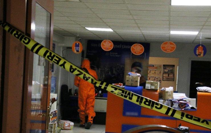 """Ankara'da kargo şirketinde """"klor gazı"""" paniği  yaşandı"""
