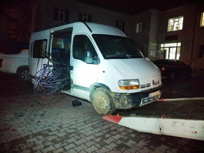 Elbistan'da iletişim kablolarını çalan çete çökertildi