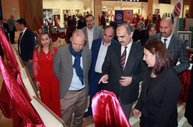 Madalyalı şehirde kağıt rölyef sergisi açıldı