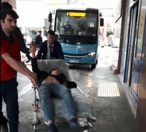 Kahramanmaraş'ta halk otobüslerinde fenalaşan yolcular hastaneye yetiştirildi
