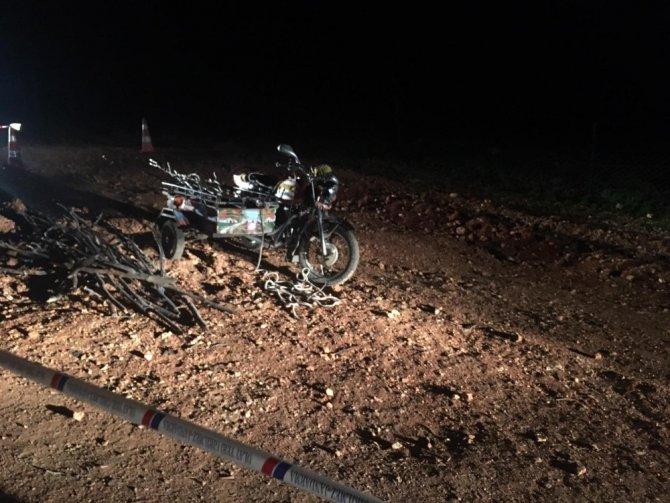 Kahramanmaraş'ta kontrolden çıkan motosiklet takla attı