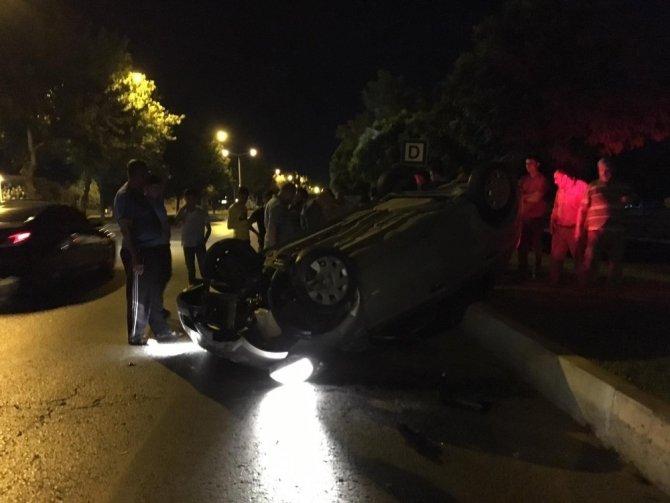 Kahramanmaraş'ta otomobil takla attı: 1 kişi yaralandı