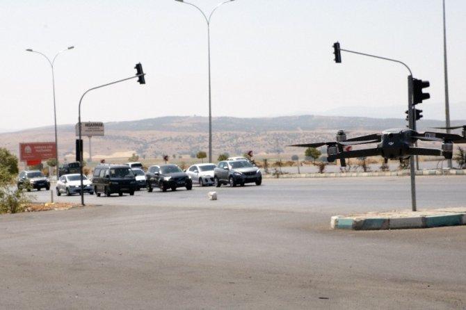Kahramanmaraş'ta trafik denetimine drone de katıldı