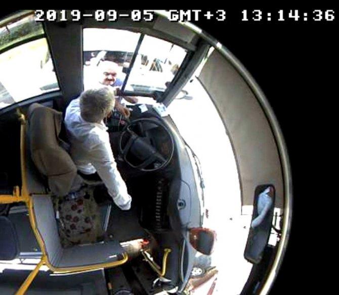 Kahramanmaraş'ta Otobüs şoförünü baltayla tehdit etti