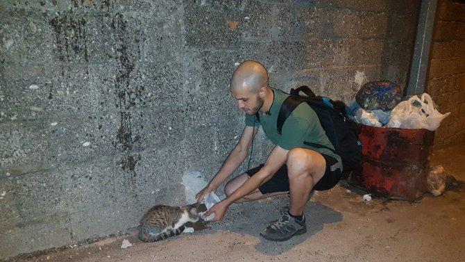 Kahramanmaraş'ta Hayatını sokak hayvanlarına adadı