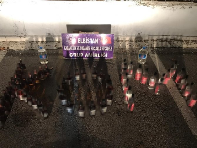 Elbistan'da kaçak içki operasyonu