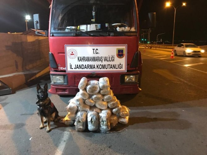 Kahramanmaraş'ta 46 kg esrar ele geçirildi