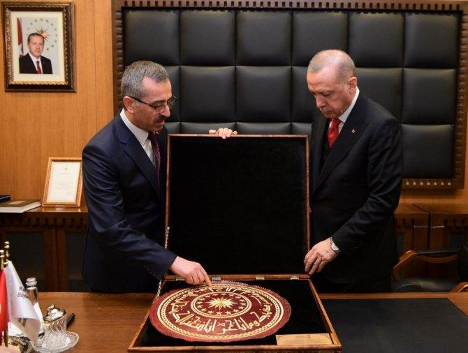 Cumhurbaşkanı Erdoğan, Büyükşehir Belediyesini ziyaret etti