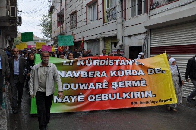 BDP DERİK TEŞKİLATI'NDAN GÖKKAN'A DESTEK