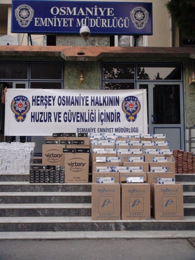 OSMANİYE'DE KAÇAK SİGARA OPERASYONU