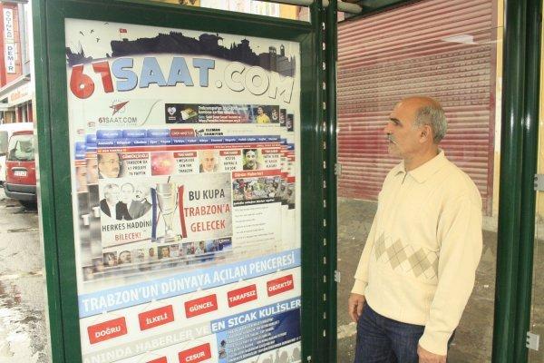 Trabzon da ilgi çeken reklam afişi