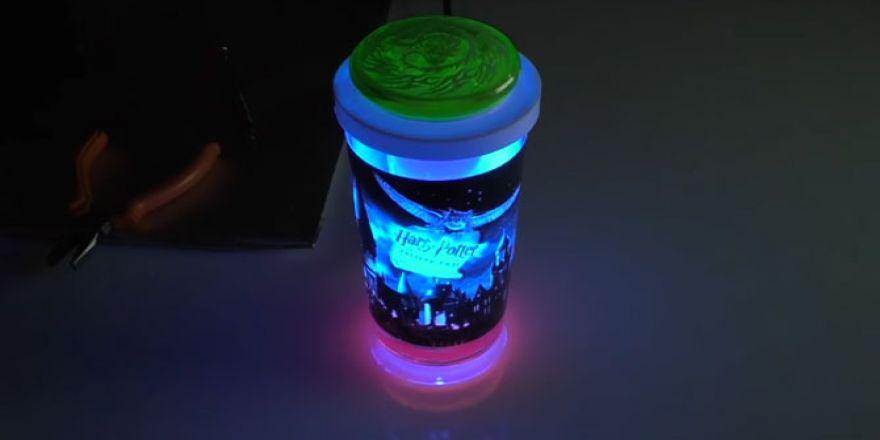 Su Bardağından Gece Lambası Nasıl Yapılır